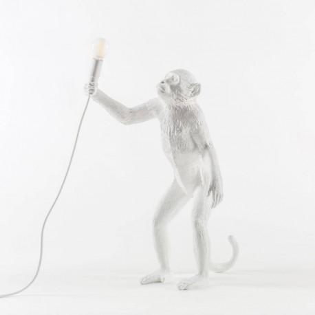 SELETTI Monkey Standing Lamp Black Indoor