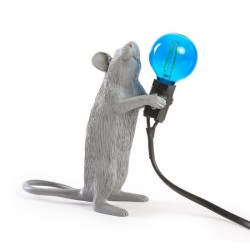 SELETTI Mouse Standing Lamp Gray