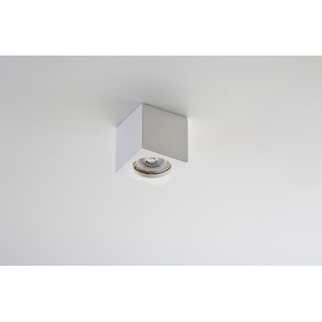 ISI Cubo gesso piccolo a soffitto LED incl.
